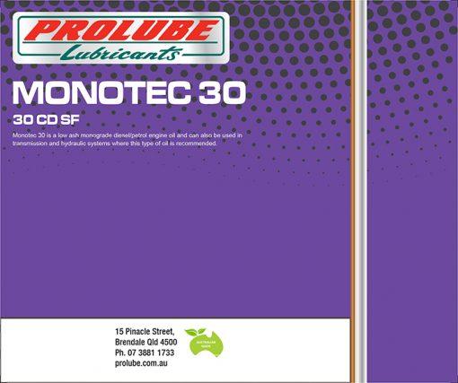 Monotec 30 SAE 30 CD SF
