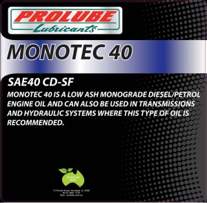 Monotec 40 Sae 40 Cd Sf Prolube Lubricants