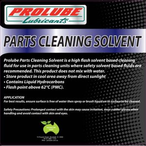 Parts Cleaning Solvent