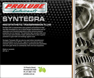 Synthetic gear oils - Prolube Syntegra synthetic gear oils
