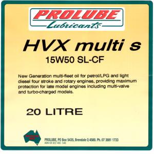HVX Multi S 15W50 SL CF