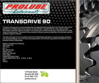 Transmission and Gear Oil - Page 2 of 2