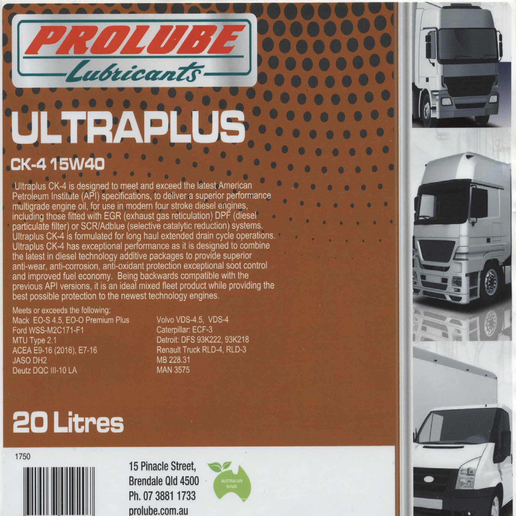 Ultraplus 15W40 CK-4, CJ-4, CI-4 plus
