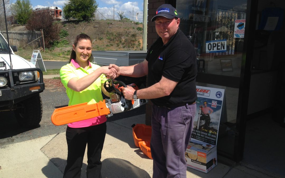 Prolube chainsaw promotion